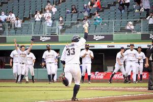 9回にサヨナラ本塁打を放った日本通運・北川利生