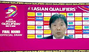 抽選会後にAFCのインタビューを受ける森保監督(AFC公式より)