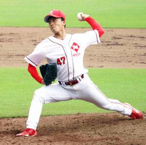 日本生命先発の高橋拓巳は、6安打無四球11奪三振で完封勝利