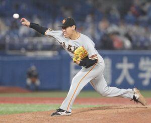 5回2死三塁、2番手で登板した桜井俊貴