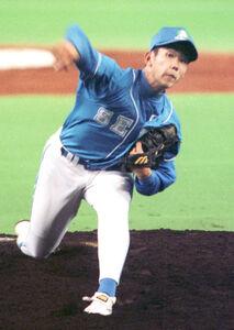 プロ初登板初勝利を挙げた松坂大輔(1999年4月7日、日本ハム・西武戦)