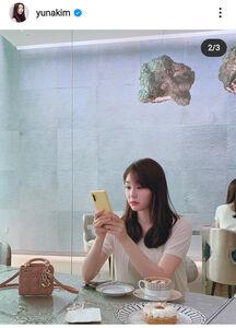 金妍兒さんのインスタグラム(@yunakim)より