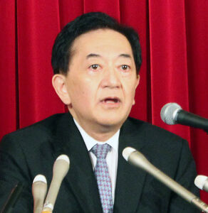 横浜市長選への出馬表明会見を行った田中康夫氏