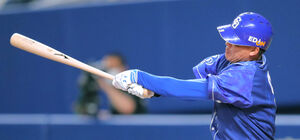 5回1死、右翼へ本塁打を放った福留孝介