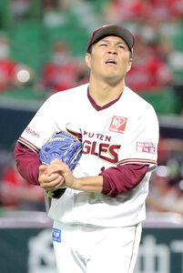 3回無死一塁、柳田悠岐に二塁への内野安打を打たれた則本昂大