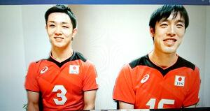 オンライン会見を行った日本代表の藤井(左)と李
