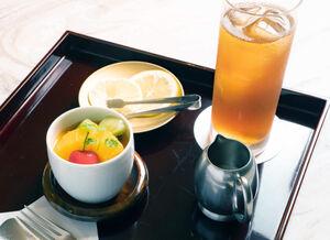 藤井王位が午後に注文したプリンとアイスティー