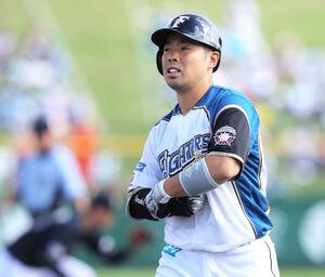 7回2死三塁、右前適時打を放つ近藤健介