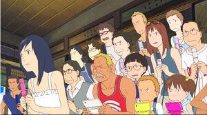 ガラケーが時代を感じさせる「サマーウォーズ」の一場面(C)2009 SUMMERWARSFILM PARTNERS