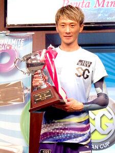 昨年のオーシャンカップを3年ぶりに制した峰。得意水面の芦屋で大会連覇へ突き進む