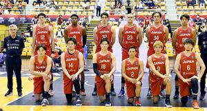 ベルギーとの強化試合に臨むバスケットボール男子日本代表