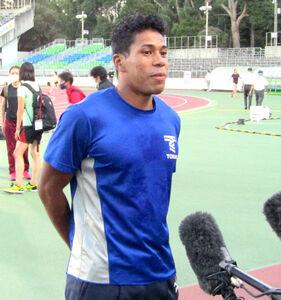 男子100メートルで2位に終わったデーデー・ブルーノ