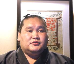 会見した大関・照ノ富士(日本相撲協会提供)
