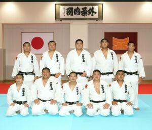 加藤学園柔道部の選手たち