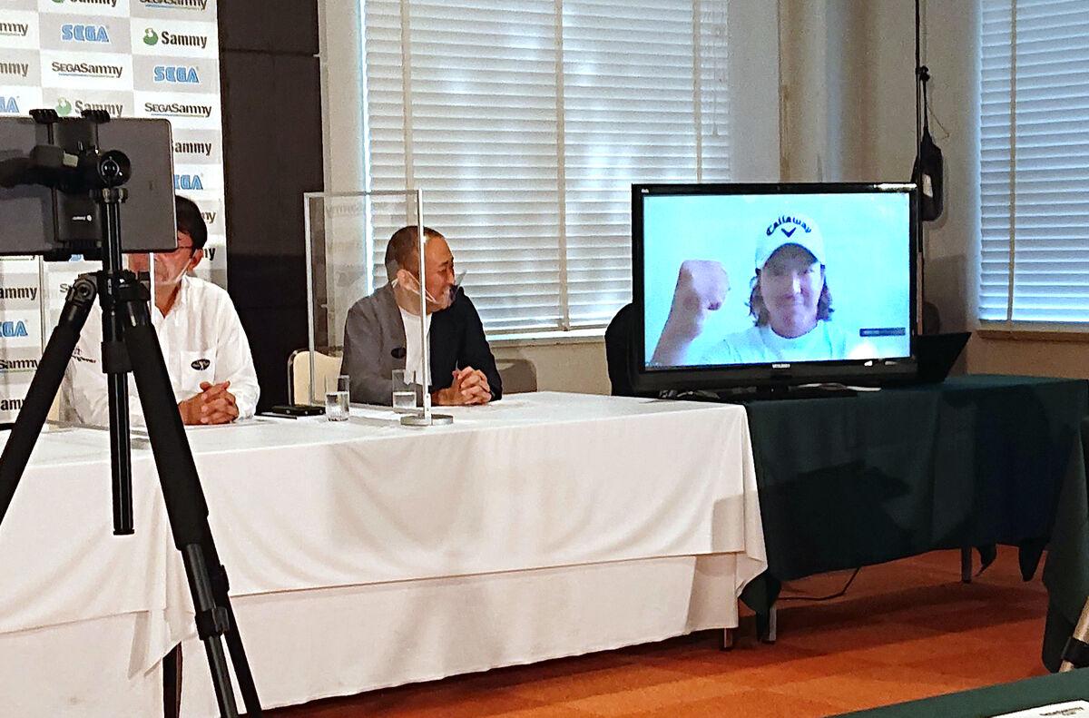 長嶋茂雄招待セガサミーカップ開催会見にリモートで出席した石川遼は2024年、28年五輪出場への熱い思いを明かした