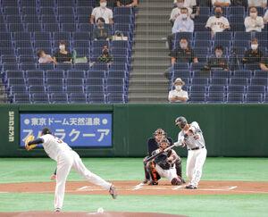 1回2死、桜井俊貴から左越え本塁打を放った元木軍・北村拓己