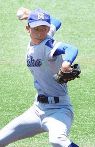 大阪の長友一夢は2失点10奪三振で完投勝ち