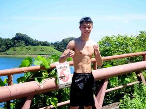 20日まで神奈川・城山湖で走り込み合宿を行った中谷潤人