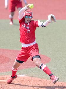 5回途中1失点と好投し、コールド勝利に貢献した上野由岐子(カメラ・相川 和寛)