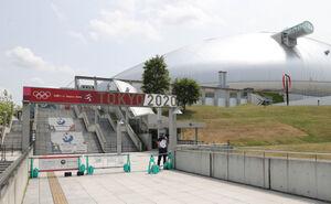 21日の札幌ドーム入場ゲート付近