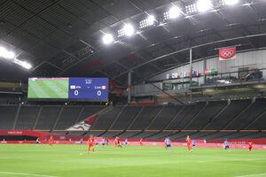 サッカー女子1次リーグ 無観客で行われた札幌ドームの日本・カナダ戦
