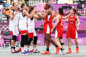 バスケットボール 3人制女子 ROCに敗れた女子日本代表(ロイター)