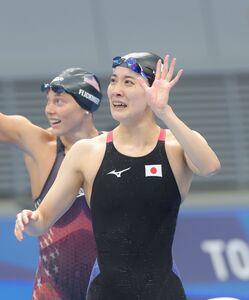 (決勝)女子400m個人メドレー 金メダルを獲得、感極まる大橋悠依