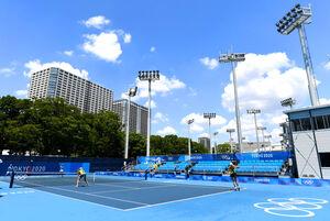 テニス会場の「有明テニスの森」(ロイター)