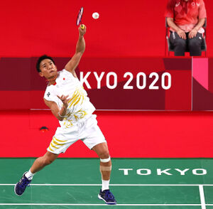 米国選手に勝ち、白星発進の桃田賢斗(ロイター)