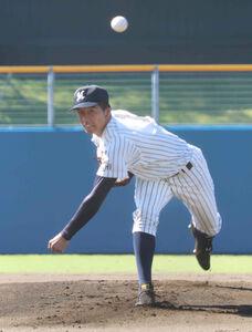 明徳義塾の代木大和は4回途中8失点で降板したが逆転3ランで決勝進出に導いた
