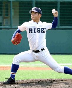 9回6安打1失点と力投した履正社・渡辺純太投手