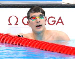 男子200mバタフライ 準決勝敗退の瀬戸大也(カメラ・竜田 卓)