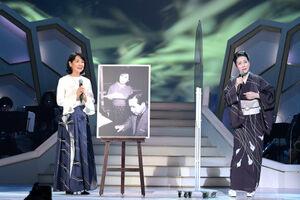 NHK BS「新 BS日本のうたスペシャル」でコラボした吉永小百合(左)と坂本冬美