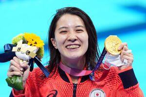 女子200メートル個人メドレー決勝で優勝し東京五輪2冠を達成した大橋悠依