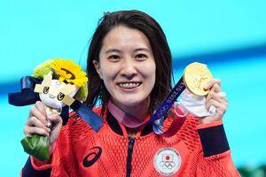 女子200メートル個人メドレー決勝で優勝した大橋悠依(カメラ・矢口 亨)