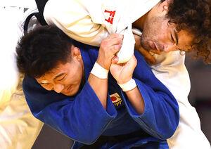 モーリシャスの選手に勝ち、3回戦に進んだ向翔一郎(ロイター)