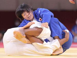 女子78キロ級で金メダルを獲得した浜田尚里