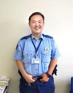ウルフのライバルだった村田大祐さん(中川警察署で撮影)