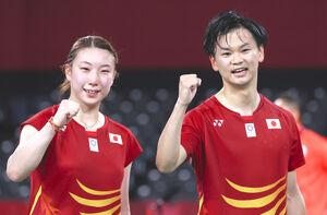 東野(左)渡辺組(ロイター)