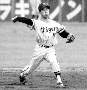 阪神・三宅秀史(本名、プレー当時は伸和)(1966年撮影)