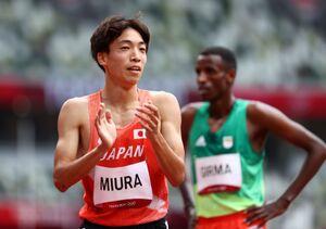 男子3000メートル障害予選 8分9秒92の日本新記録で1組2着となり決勝へ進んだ三浦龍司(ロイター)