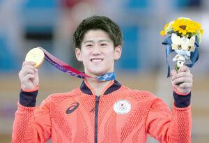 体操男子個人総合で優勝した橋本大輝