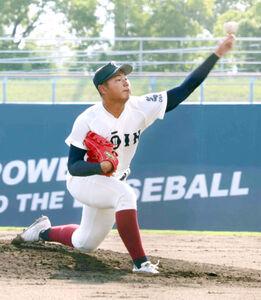 8回から登板した大阪桐蔭の松浦慶斗
