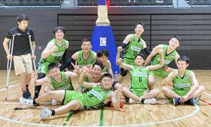 デビュー大会で1位となり喜ぶレバンガ北海道U18チーム