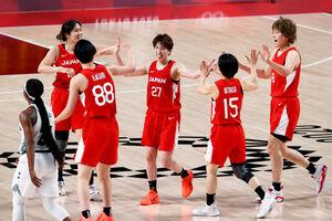 ナイジェリアに勝利したバスケ女子日本代表(ロイター)