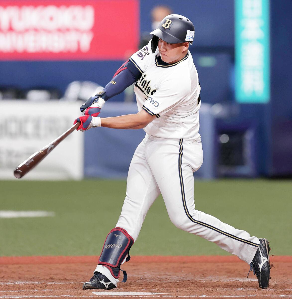 3回無死満塁、来田涼斗が右中間へ先制の2点適時二塁打
