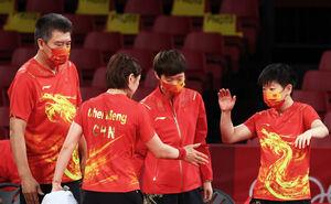 卓球女子団体 中国チーム(ロイター)