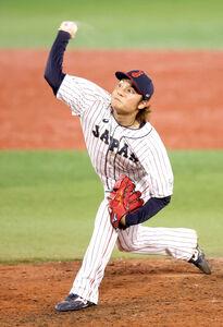 7回から登板した3番手・伊藤大海(カメラ・竜田 卓)