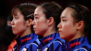 決勝に臨んだ(左から)平野、石川、伊藤(ロイター)