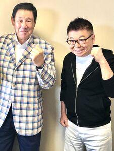 ラジオで対談した生島ヒロシ(右)と田淵幸一氏